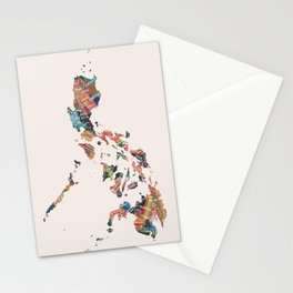 Map of the Philippines / 81 provinces Stationery Cards
