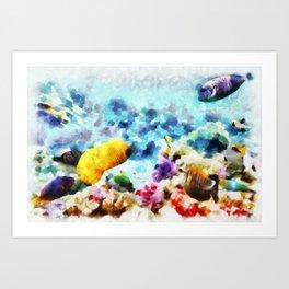 Mundo Submerso Art Print