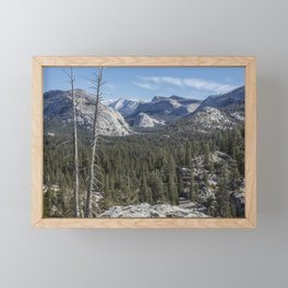 The North View Towards Tenaya Lake from Olmsted Point Framed Mini Art Print