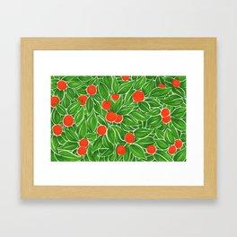 Citrus pattern Framed Art Print