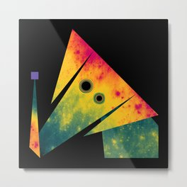 Elephant Exploring Space Metal Print