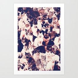 Cats. Forever. Art Print