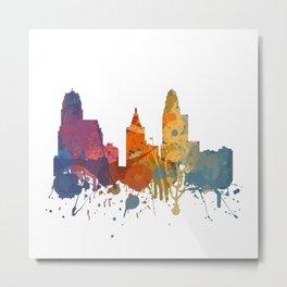 Cincinnati - Painted Skylines Metal Print