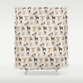 Vintage Goat All-Over Fabric Print Shower Curtain