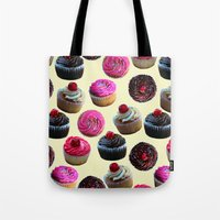cupcakes Tote Bags featuring Cupcakes by Tangerine-Tane