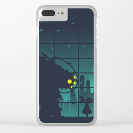 bioshock big daddy Clear iPhone Case