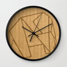 Origami - Elephant Wall Clock