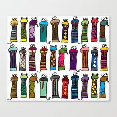 Slithery Socks Canvas Print