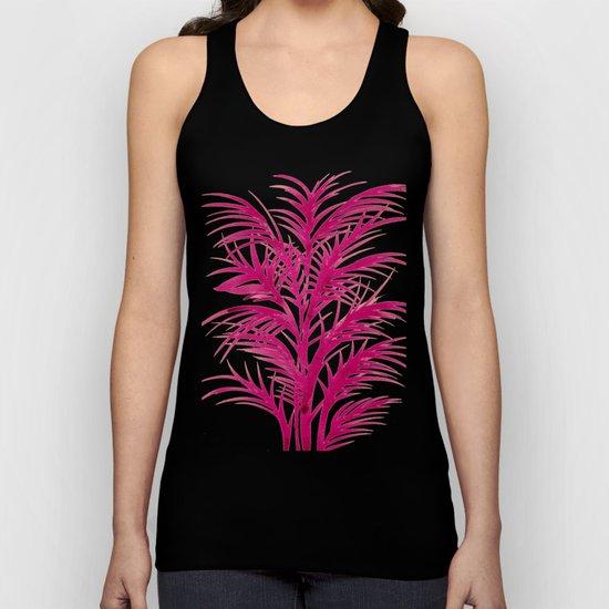 Pink Palms Unisex Tank Top