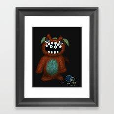 Scared Monster Framed Art Print