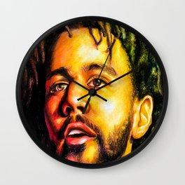 J.Cole Portrait Wall Clock
