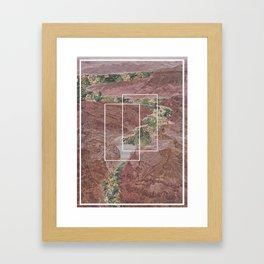 Floral Canyon Framed Art Print