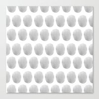 polkadot Canvas Prints featuring Watercolour polkadot grey by studio groenling