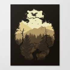 Hunting Season - Brown Canvas Print