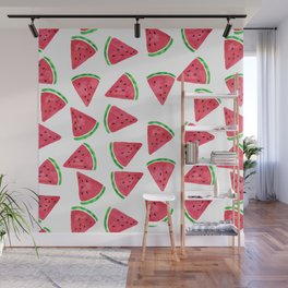 Watermelon Slices Pattern Wall Mural