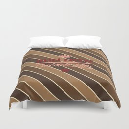 Run Now, Chocolate Later Duvet Cover