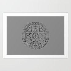 Human Transmutation Circle - Charcoal Art Print