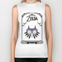 majoras mask Biker Tanks featuring Zelda legend - Majora's mask by Art & Be