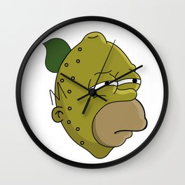 Homer Lemonhead Wall Clock