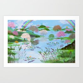 The Land of The Living Art Print