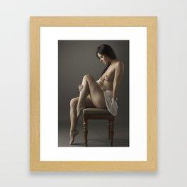 beige stockings 14 Framed Art Print