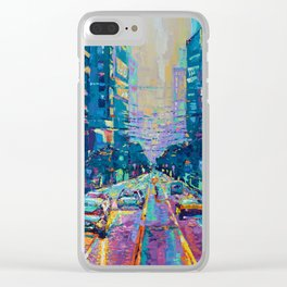 Streets of San Francisco - modern urban city landscape at sunrise by Adriana Dziuba Clear iPhone Case