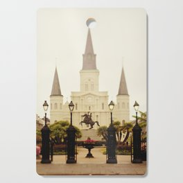 New Orleans Looking Through Jackson Square Cutting Board