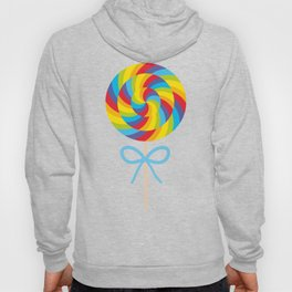 candy lollipop with bow, colorful spiral candy cane Hoody