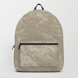 White gold velvet Backpack