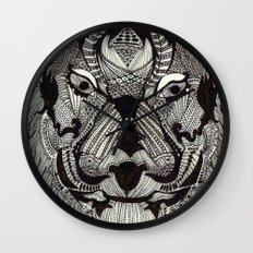 Tiger by Mieke Kristine Wall Clock