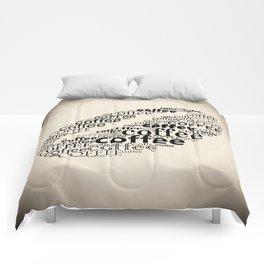 Coffee bean vignette Comforters
