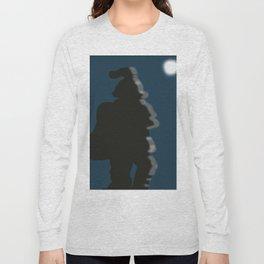 Santa Silhouette Long Sleeve T-shirt