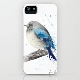 Round and Happy Bird iPhone Case