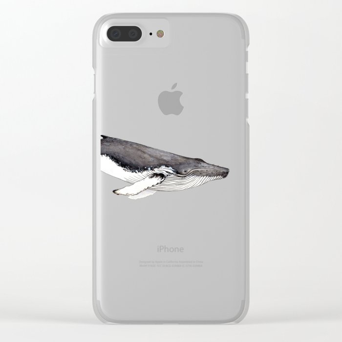 Humpback whale for whale lovers Clear iPhone Case