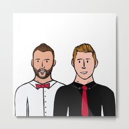 Beard Boy: Carlos & Ivan Metal Print