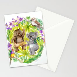 Australian Animals Party Stationery Cards