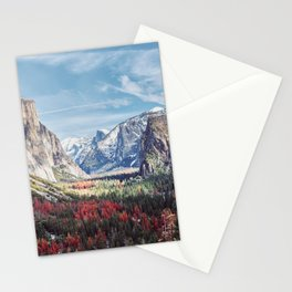 Tunnel View Yosemite Valley Stationery Cards