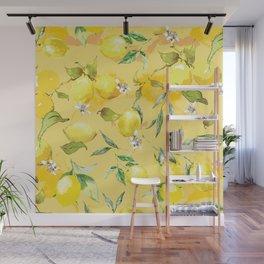 Watercolor lemons 5 Wall Mural