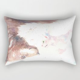 The bear, the cat and the tree of truth Rectangular Pillow