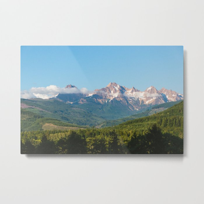 Sunny Mountain Summer Metal Print