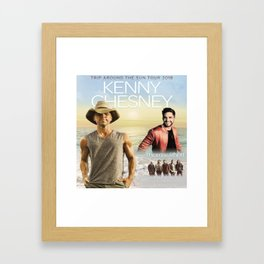 New Kenny Chesney tour 18 Framed Art Print