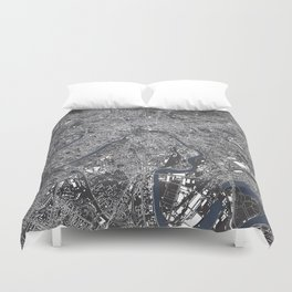 Moscow City Map Duvet Cover