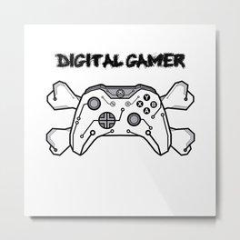 Digital gamer Metal Print