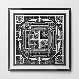 looking for something (black and white) Metal Print