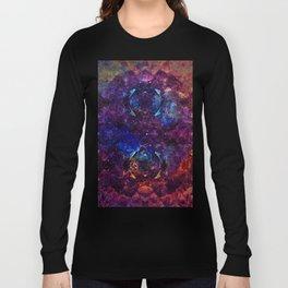 Rainbow Aura Quartz NebulÆ Long Sleeve T-shirt