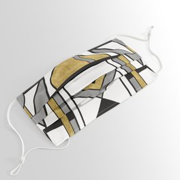 Up and Away - Art Deco Spaceman Face Mask