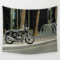 cycle Wall Tapestries featuring 'Cycle Parking, Mo' Cycle Parking  by oneofacard