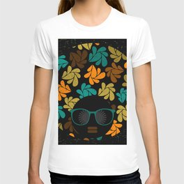 Afro Diva: Fall Colors Brown Gold Teal T-shirt