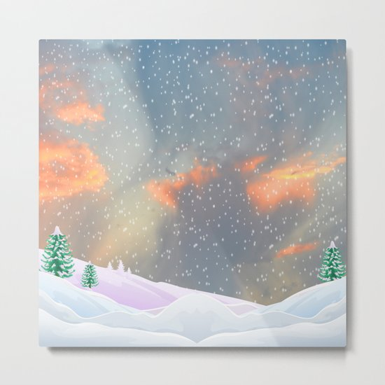 My Snowland   Christmas Spirit Metal Print