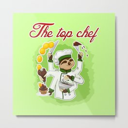 Commissions | Sloth Chef Metal Print